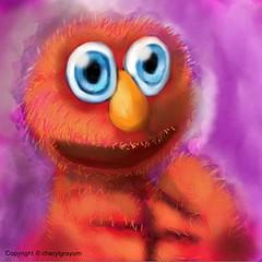 Elmo per request (Cowgirl111) Tags: club digital painting book sketch finger elmo sketchbook painter pro per artworks request ipad