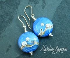 "Arctic Ocean Lentil earrings • <a style=""font-size:0.8em;"" href=""https://www.flickr.com/photos/37516896@N05/6266167925/"" target=""_blank"">View on Flickr</a>"
