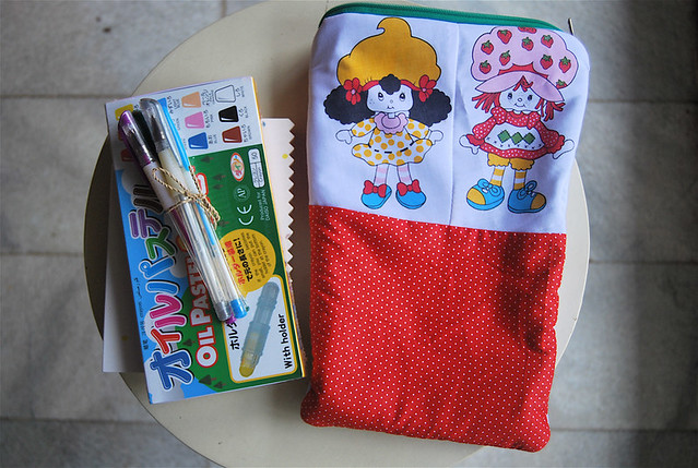 'Strawberry & friends' gift pouch