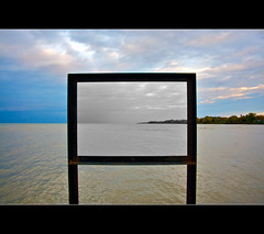 Frame Already Provided 2 Opposite (kroess.photo.) Tags: sky lake ny ontario fall clouds pier wilson framing selectivecolor