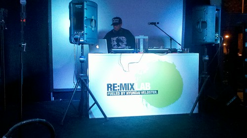 DJ Premier Spinning at The Hyundai RE:MIXLAB in New York