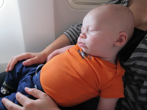 Sleeping on the plane to NC