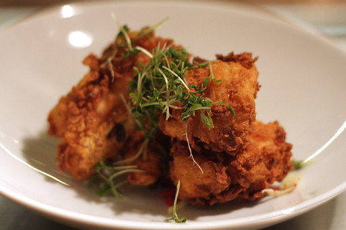 fried chicken at Verjus