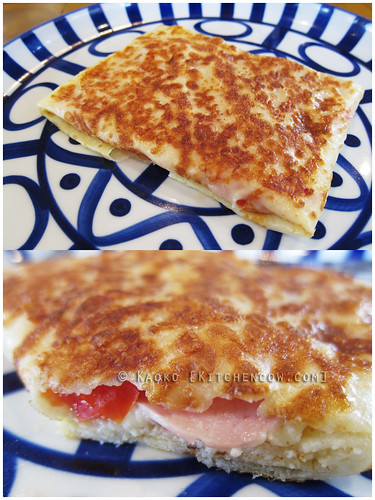 Cafe Breton - Ham, Cheese, Tomato & Garlic Crepe