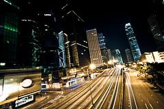 Harcourt Road   Central (dawvon) Tags: china city longexposure urban hk night hongkong asia cityscape nightscape nightshot central style metropolis   hongkongisland admiralty    harcourtroad