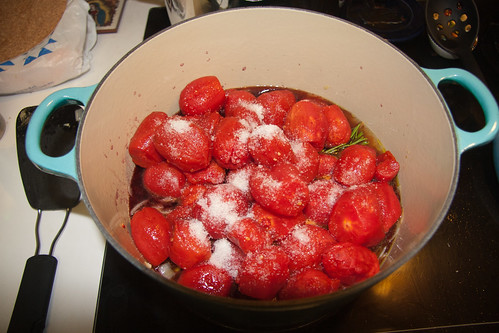 Add Tomatoes, Wine and Salt