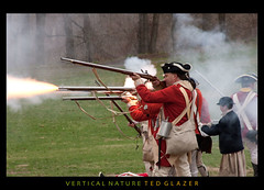Red Coats take the Shot (Ted Glazer: Vertical Nature Photography) Tags: history colonial revolution drummer british patriot americanrevolution redcoats patriotsday tedglazer verticalnature