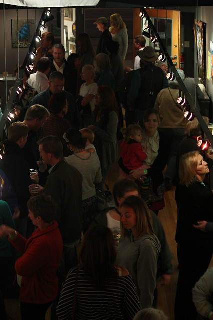 crowd at bad art show