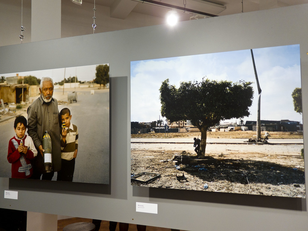Tim Hetherington's Misurata, Libya photos, at the Bronx Doc Center