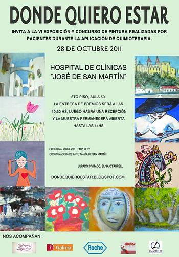 Poster muestra y concurso donde quiero estar 6 octubre 2011