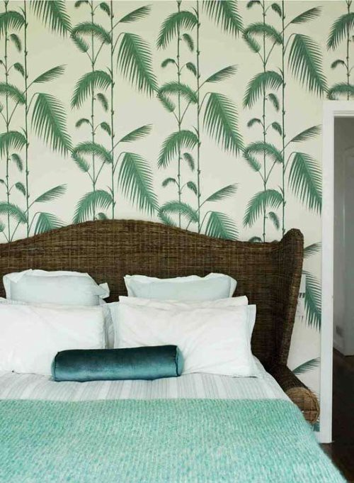 Ish And Chi Palm Leaves Wallpaper Interior Design Decorating