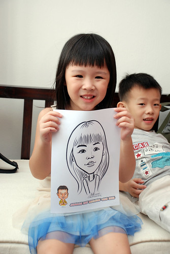 Caricature live sketching for Jonah's birthday party - 2