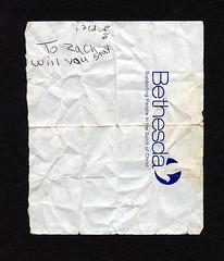 Found: Front (haunted snowfort) Tags: zach found katie note discarded bethesda discovery find  lovenote foundnote imissu zachkatie supportingpeopleinthespiritofchrist implored