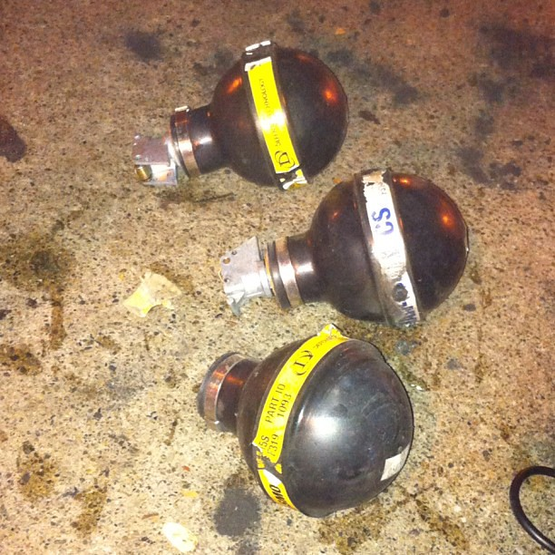 Here's what empty tear gas canisters look like #occupyoakland