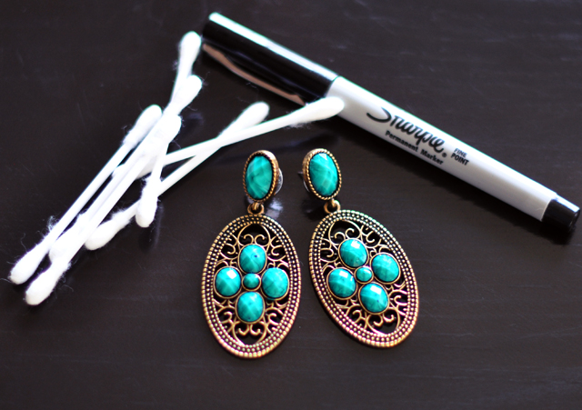 Sharpie Earrings DIY - materials