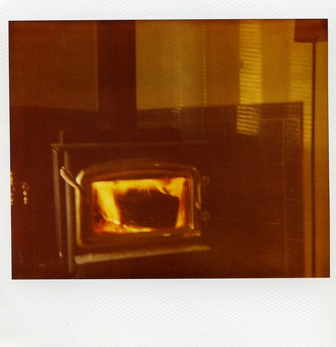 Polaroid: wood burning stove