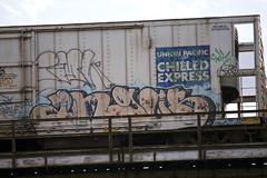 angus (Electric Funeral) Tags: railroad art train graffiti midwest paint angus railway railcar traincar omaha graff freight reefer freighttrain councilbluffs armn benched benching freighttraingraffiti