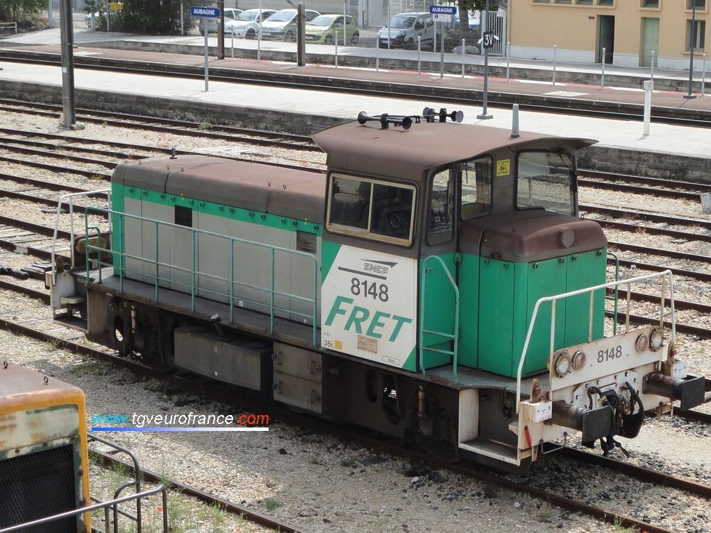 Le locotracteur Diesel Y 8148 en livrée FRET SNCF du dépôt de Béziers