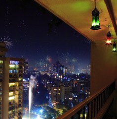 Diwali Come Home (sharad_2007) Tags: india festival night colorful cityscape nightscape fireworks culture sparklers diwali mumbai hindu festivaloflights deepawali lokhandwala andheri greenacres dipawali firefountains