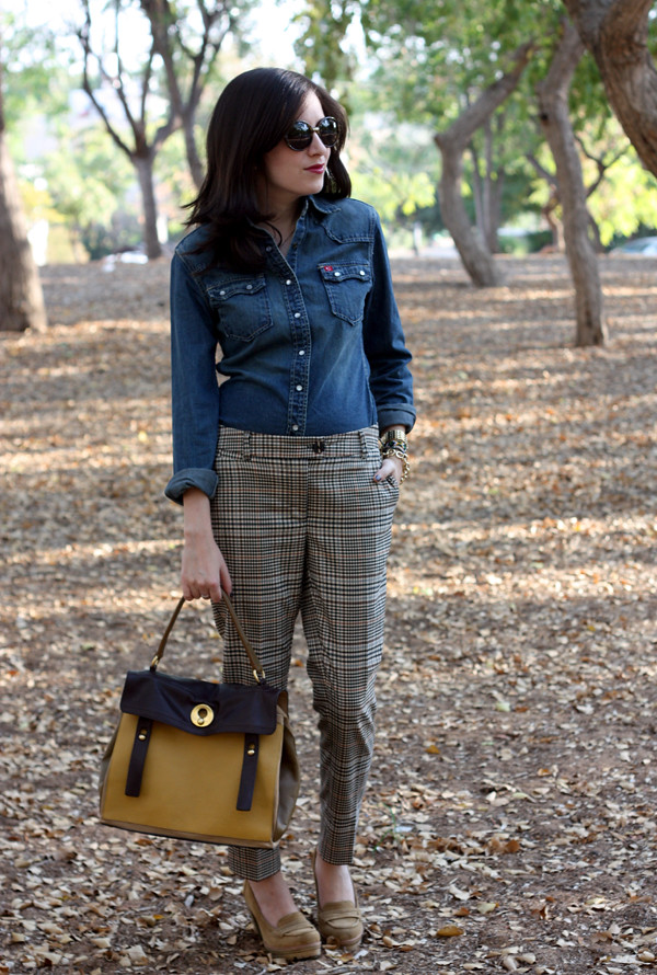 denim_blouse_plaid_pants1