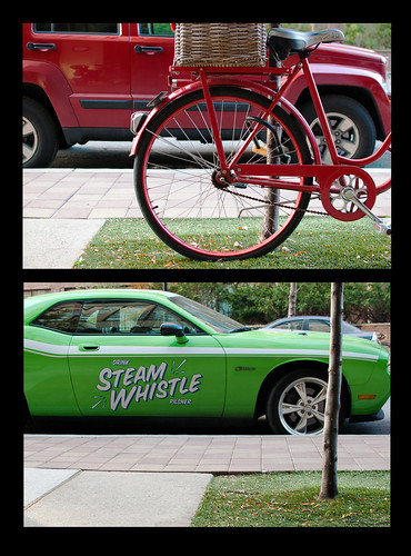 Red green wheels diptych - #300/365 by PJMixer