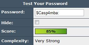 A strong password