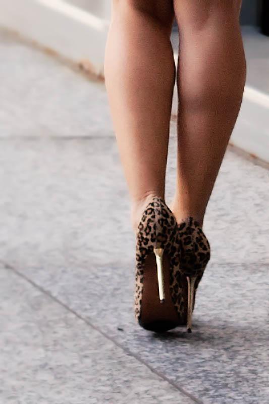 bakers wild pair mara leopard calf-hair pumps gold stiletto