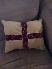 It's a present; it's a pillow!