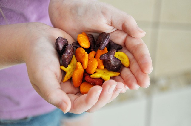handful of goldfish