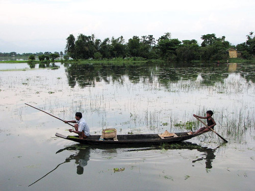Fishing in the haor, Bangladesh. Photo by Balaram Mahalder, 2008