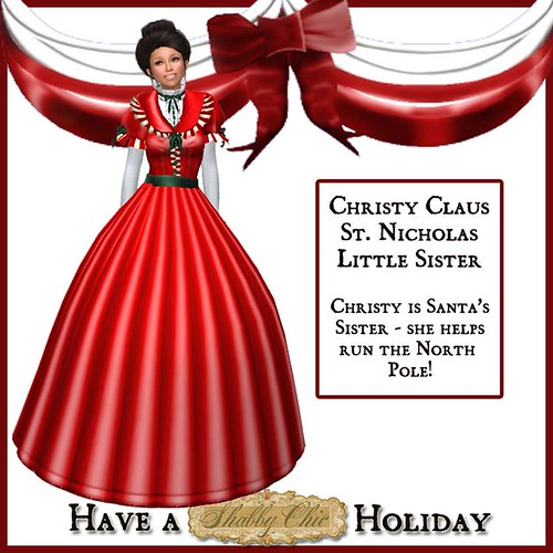 Shabby Chic Christy Claus - St. Nicholas's Little Sister by Shabby Chics