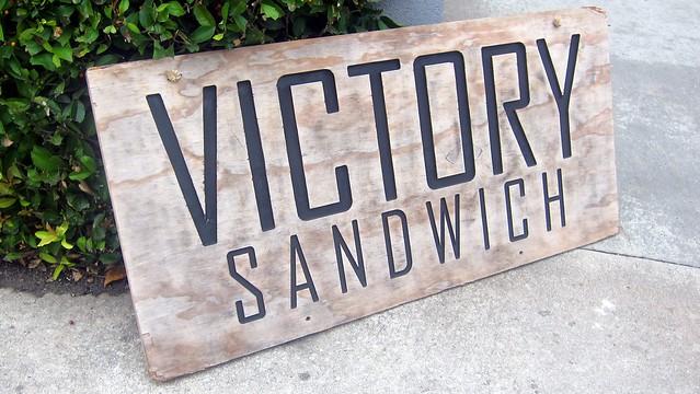 victory sandwich bar signage