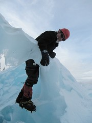 ice-climbing.. crazy Scotsman style.. (iwona_kellie) Tags: friends usa mountain fun volcano washington weekend helmet gear rope tools harness iceclimbing iceaxe mountbaker northcascades crampons crevasses colemanglacier belaydevice
