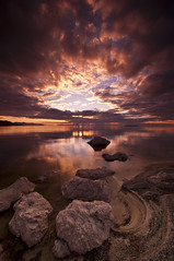 Path to Paradise_DSC4625 (antelope reflection) Tags: sunset color reflection beach water antelopeisland d90 utahstatepark greatsaltlakenikon