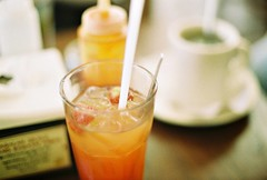 (yttria.ariwahjoedi) Tags: food film glass analog canon indonesia cafe strawberry drink ae1 juice pasta eat squash mug bandung thirsty warung