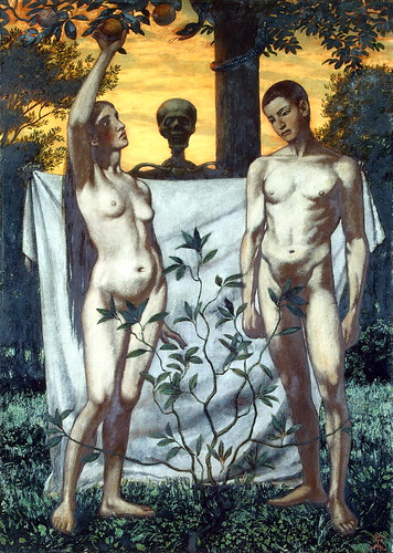 Hans Thoma - Adam and Eve [1897] by Gandalf's Gallery