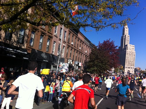 New York Marathon course through Brooklyn