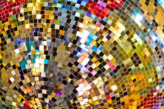 Xmas pixels (Alexandre Moreau | Photography) Tags: xmas november light reflections mess spectrum christmaslights pixel gradient discoball pixels multicolors patches textured christmassy coventgardenmarket
