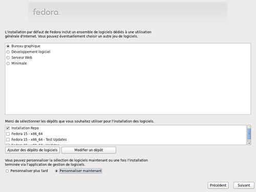 Choix de l'environnement de bureau sous Fedora 15 - partie 1