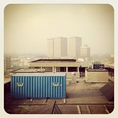 Uitzicht vanaf het dak (ElseKramer) Tags: heritage monument rotterdam industrial listedbuilding elsekramer hakagebouw iphoneography