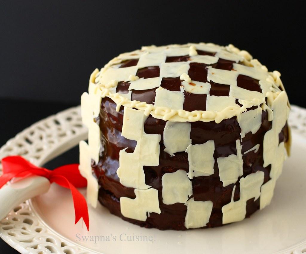 Swapna S Cuisine Checkerboard Cake