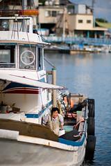Lady fish (Telmo-fotos) Tags: old trip travel sea japan boat fishing candid tomonoura