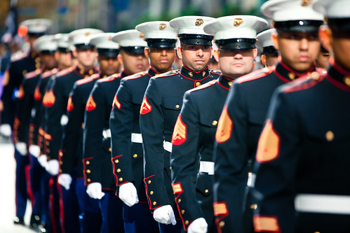 Marines march in 2011 NYC Veterans Day P by NYCMarines, on Flickr