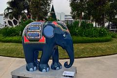 Elephant Parade - Lives to Share, Lives to Spare (chooyutshing) Tags: public singapore statues handpainted sculptures artexhibition skypark elephantparade 2011 vivocity lifetosharelivestospare lauraseeley