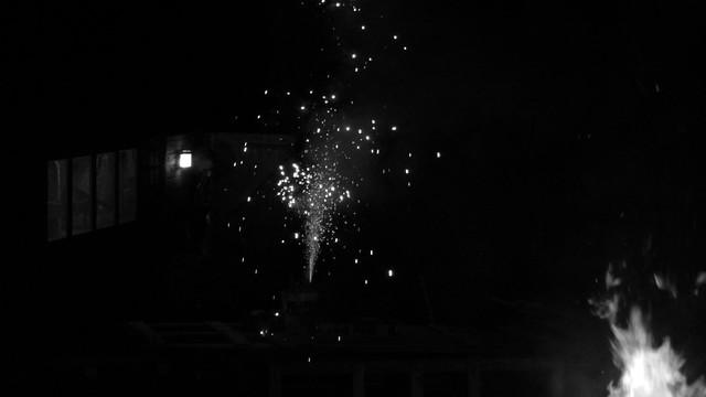 Small fireworks B&W