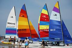 Ready to Go! (SupersonicNJ) Tags: ocean new city summer beach sailboat sailing sails catamaran jersey sail sailboats oceancity catamarans challengegroupgame challengegamewinner