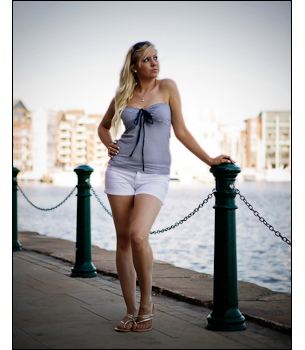 Fashion model shoot on location at Ipswich Waterfront.