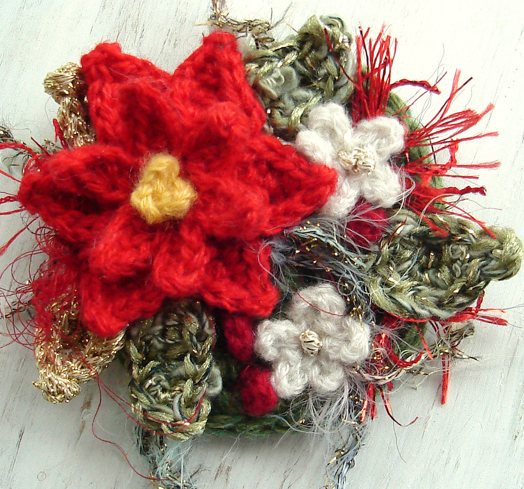 The Worlds Best Photos Of Crochet And Poinsettia Flickr Hive Mind