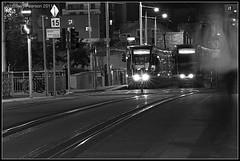 Transcendence (Stuart Pearson Photography) Tags: longexposure nightphotography travel ireland urban bw dublin monochrome blackwhite aperture darkness ghost transport tram machines luas starburst dreamscape spiritworld transcendence dublincity heustonstation stuartpearsonphotoelectric wwwphotoelectriclondoncouk