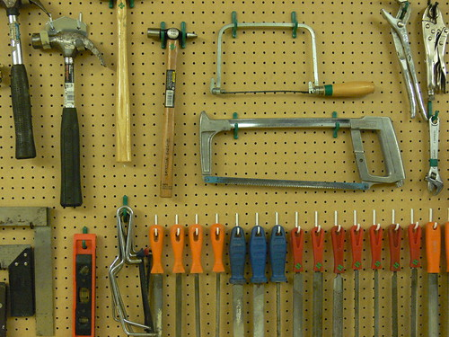 Tool Wall at Nottingham Hackspace